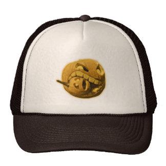 Funny Halloween Pumpkin Head with outer glow Trucker Hat