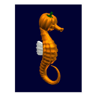 Funny Halloween Seahorse Postcards