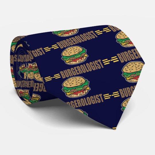 Funny Hamburger Cheeseburger Tie