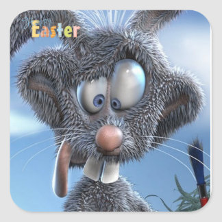 funny happy easter bunny stickers
