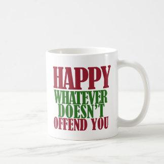 Funny Happy Holidays Merry Christmas parody Basic White Mug