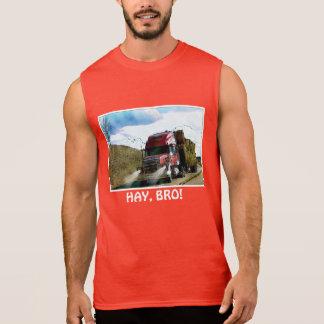 "Funny ""HAY BRO"" Red Hay Truck Shirt"