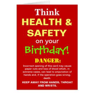 Funny Health and Safety Birthday Joke Card