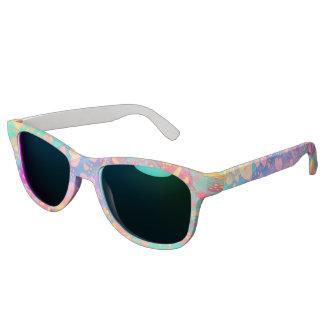Funny Heart Pattern XI - pastel colored + ideas Sunglasses
