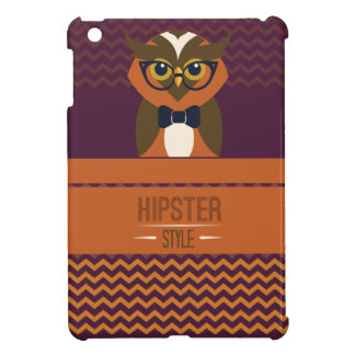 Funny Hipster Style Owl Cover For The iPad Mini