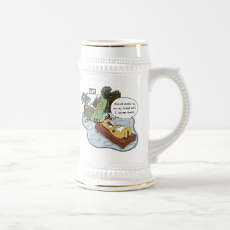 Funny Holiday Cartoon - Reindeer Therapy Beer Steins