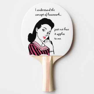 Funny Housework Concept Ping-Pong Paddle