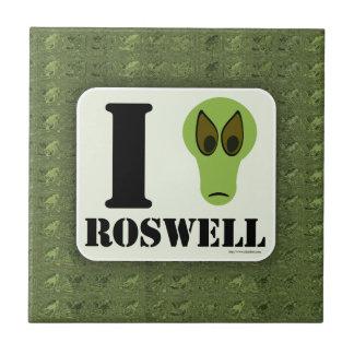 Funny I Love Roswell Tile