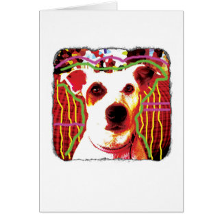 Funny Jack Russell Pop Art card for many uses