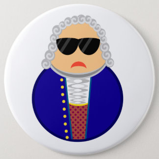 Funny Johann Sebastian Bach Composer 6 Cm Round Badge