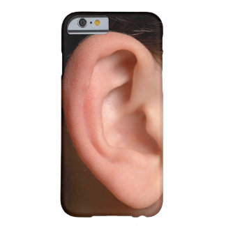 Funny Joke Humorous Right Ear Photo Illusion Barely There iPhone 6 Case