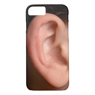 Funny Joke Humorous Right Ear Photo Illusion iPhone 7 Case