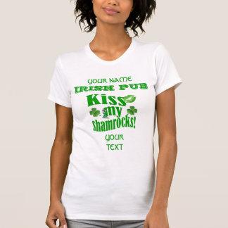 Funny kiss my shamrocks St Patrick's Shirts