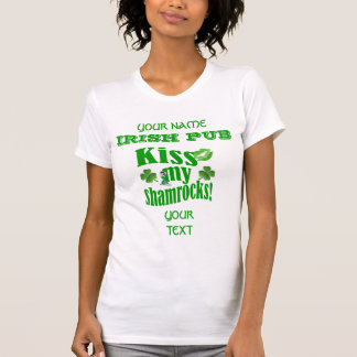 Funny kiss my shamrocks St Patrick's T-Shirt
