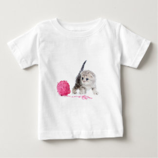 Funny kitten adorable Low Poly nice Baby T-Shirt