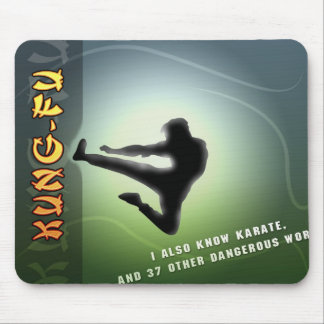 Funny Kung-Fu Mouse Pad