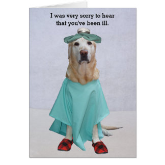 Funny Lab Customizable Get Well Card