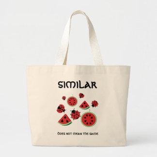 Funny Ladybug and Watermelon Design Bag