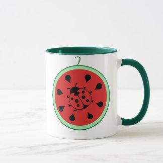 Funny Ladybug and Watermelon Mug