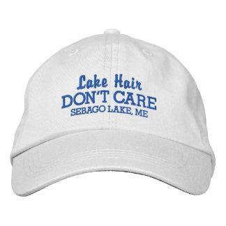 Funny Lake Hair Don't Care Custom Lake Name Embroidered Cap