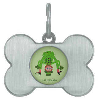 Funny Leprechaun Pet Tags