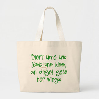 Funny Lesbian Christmas Gift Tote Bags