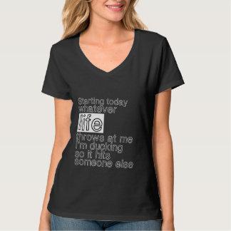Funny Life Quotes Dark Tshirt