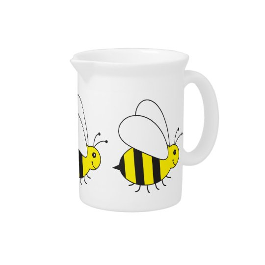 Funny Little Honey Bee Cute Pitcher