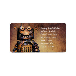 Funny Little Kid's Robot Address Label