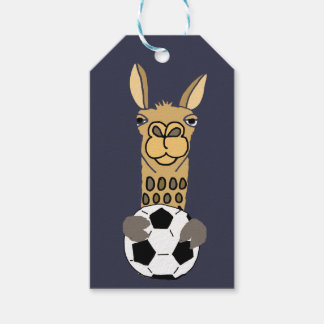 Funny Llama with Soccer Ball Art