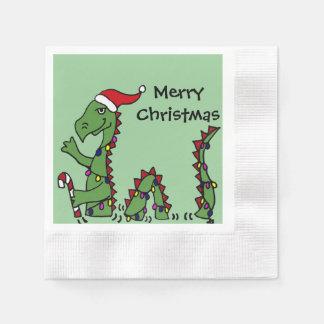 Funny Loch Ness Monster Christmas Art Paper Napkin