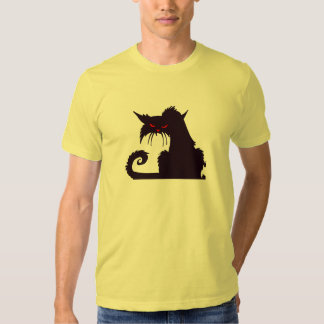 Funny Mad Hipster Cat with Attitude and Red Eyes Shirts