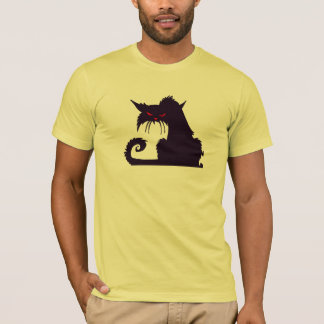 Funny Mad Hipster Cat with Attitude and Red Eyes T-Shirt