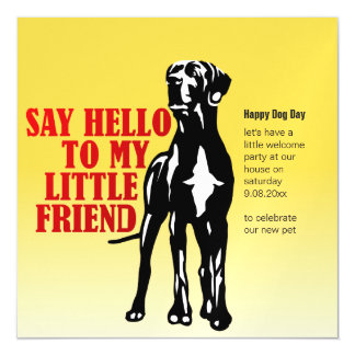 Funny magnet Great Dane invitations