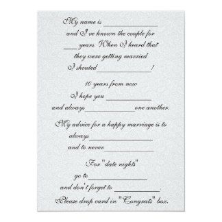 Funny Marriage Advice for Bride & Groom Card