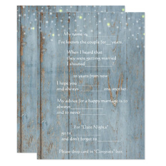 Funny Marriage Advice, Wood, Custom Card
