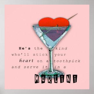 Funny Martini Quote Poster