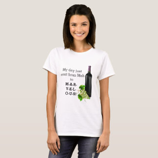 Funny Marvelous Day Wine and Grapes T-Shirt