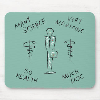 Funny Medicine Meme Mouse Pad