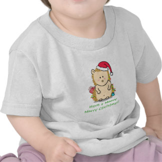 Funny Messy Merry Christmas Hedgehog T-shirts