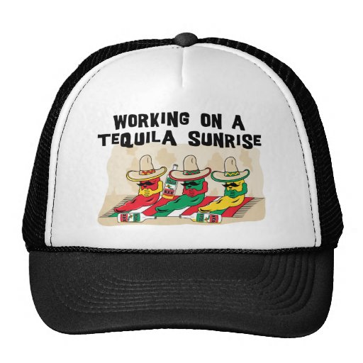 Funny Mexican Tequila Sunrise Mesh Hats