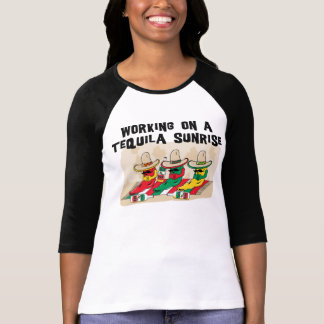 Funny Mexican Tequila Sunrise Ladies Tees