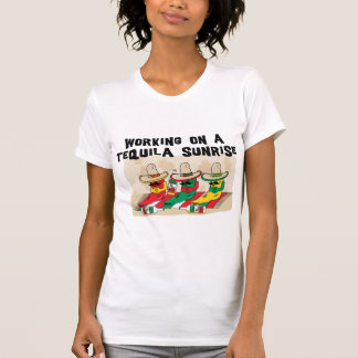 Funny Mexican Tequila Sunrise Ladies Tee Shirts