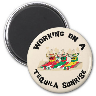 Funny Mexican Tequila Sunrise 6 Cm Round Magnet