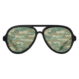 Funny military camouflage Halloween party shades