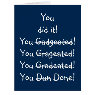 Funny Misspelling Graduation Congratulations BIG Card