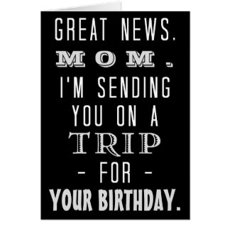 Funny Mom Birthday Trip Retro Hippie Humor Card