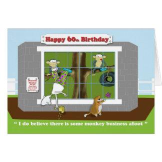 funny monkey business 60th Birthday  card