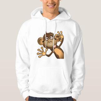 Funny Monkey Mens Hoodie