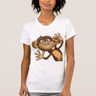 Funny Monkey Womens T-Shirt